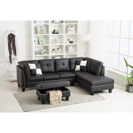 Free Shipping Buy Winston Porter Redner Sectional With Ottoman At Walmart Com Sectional Sofa Sectional Fabric Sectional Sofas