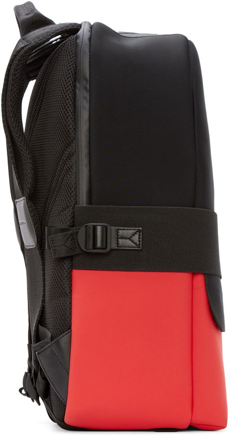 a5a2755fe5 Y-3 Black   Red Day II Backpack