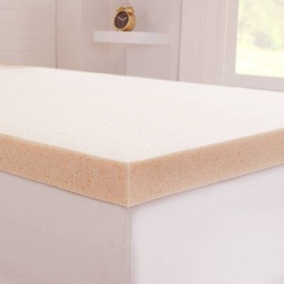 Queen 1 5 Copper Infused Gel Memory Foam Mattress Topper Beige