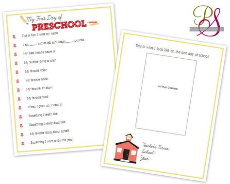 First-Day-of-School Interviews for Kids (Free Printables up to 12th grade)