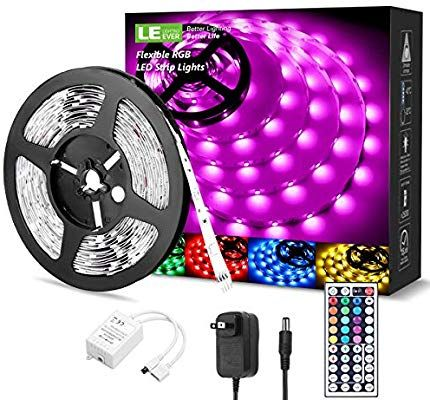 Daybetter Led Strip Lights 32 8ft 10m With 44 Keys Ir Remote And 12v Power Supply Flexible Color In 2020 Led Strip Lighting Led Rope Lights Strip Lighting