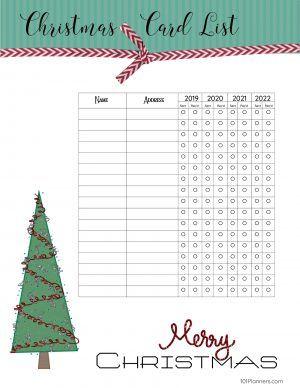 Free Printable Christmas Gift List Template Addressing Christmas Cards Free Christmas Printables Christmas Gift List