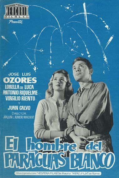 El Hombre Del Paraguas Blanco 1958 Tt0051563 Carteles De Cine Cine Cine Clasico