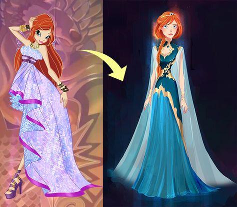 Винкс Клуб Блум из принцессы в королеву Домино