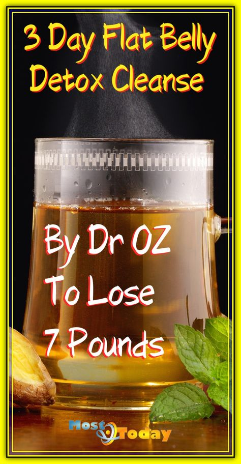 3 Day Flat Belly Detox Cleanse By Dr OZ To Lose 7 Pounds Weight Loss Workout Plan, Weight Loss Meal Plan, Fast Weight Loss, Healthy Weight Loss, Lose Weight, Weight Training, Weight Loss Drinks, Weight Loss Smoothies, Flat Belly Detox