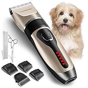 Cleebourg Dog Clippers Grooming Kit Professional Electric Pet Clipper Low Noise Rechargeable Cordless Pet Trimmer For Dogs Cats Pets Dog Supplies Online In 2020 Dog Clippers Dog Supplies Online Dog Grooming Clippers