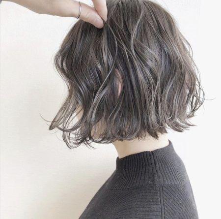 ボブ 髪の量が多い人におすすめヘアスタイル 髪型50選 黒髪パーマ