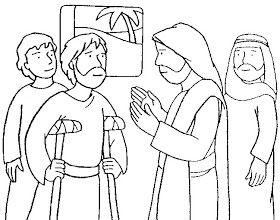 Buenas Noticias Para Los Ninos Jesus Sana A Un Paralitico Milagros De Jesus Jesus Para Colorear Jesus Sana
