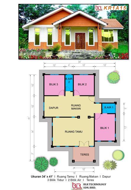 3 Bilik R 2 Air Pelan Rumah Ibs Pinterest House