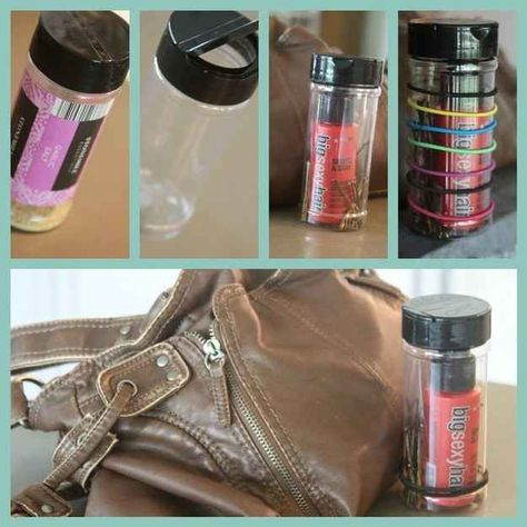 Use an old spice container as an emergency hair kit. | 18 Ingenious Hair Hacks For The Gym