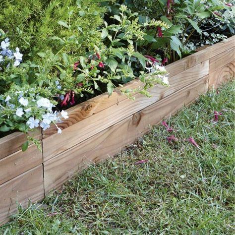 Bordure à planter Douglas bois marron, H.45 x L.90 cm ...