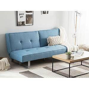 Beliani Fabric Sofa Bed Blue Dublin In 2020 Sofa Bed Blue Sofa Bed Sofa