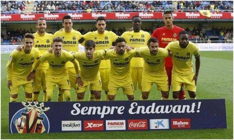 Formación 2015-16: Arriba: Soldado, Bruno, Víctor Ruiz, Bailly, Areola. Abajo: Denis Suárez, Samu Castillejo, Manu Trigueros, Jaume Costa, Mario, Bakambu.