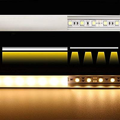 5 Pack Of 1m 3 3ft V Shape Aluminum Channel For Corner Mount Led Strip Installation Right Angle Aluminum Profile W Led Strip Lighting Led Strip Strip Lighting