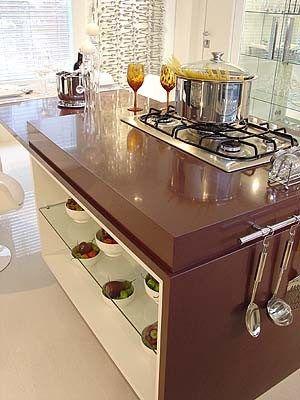 Cozinha Com Bancada De Silestone Marrom Com Imagens Bancada
