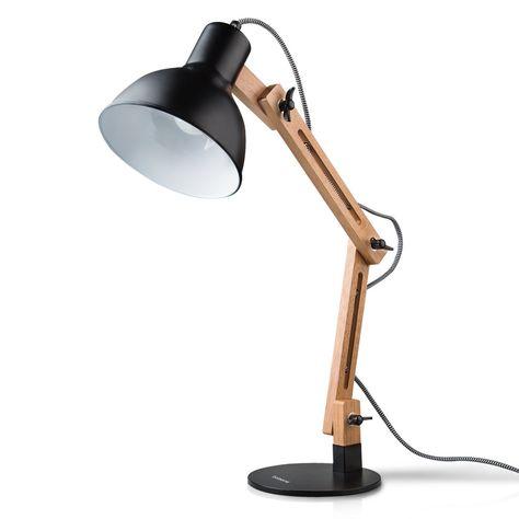 Tomons Leselampe Im Klassichen Holz Design Schreibtischlampe Tischleuchte Verstellbare Schreibtischlampe Lampe Mit Verstellbarem Arm Aug Schreibtischlampe Lampen Und Lampentisch