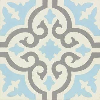 Carreau De Ciment Mur Gris Bleu Blanc Mat L 20 X L 20 Cm Belle