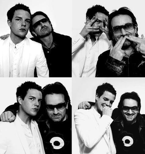 Brandon Flowers and Bono. I seriously CANNOT handle the epicness of this.