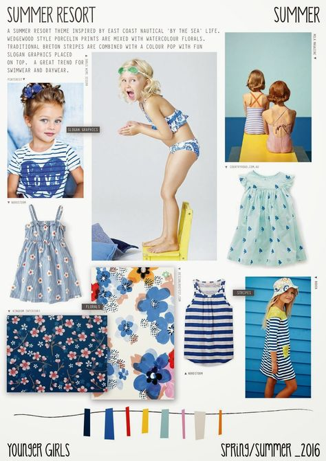 Spring/Summer 2016 - Younger Girls Fashion - Summer Resort #KidsFashionSpring