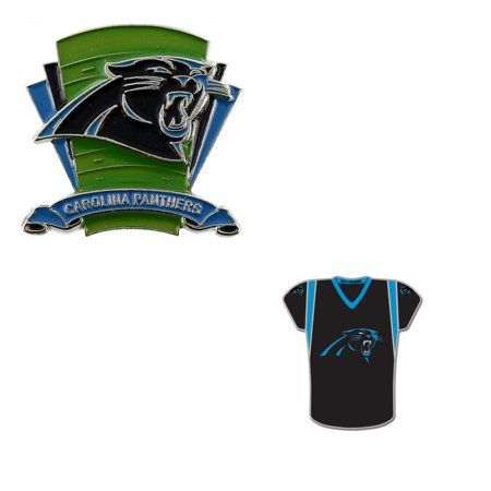 new styles b8603 ca53b Buy Bundle - 2 Items: Carolina Panthers Logo Field Pin and ...