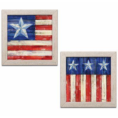 August Grove All American Flag Iii Iv 2 Piece Watercolor Painting Print Set Wayfair In 2020 American Flag Art American Flag Painting Framed American Flag