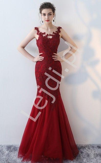 7237f6a0997 Długa suknia wieczorowa o kroju syreny. Idealna na studniówkę, wesele,  bale. #dress #reddress #prom #eveningdress #dresses #beautiful www.lejdi.pl