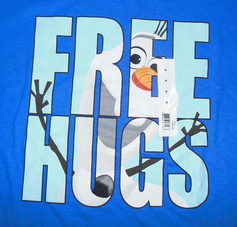 Youth Disney Frozen Olaf Blue Short Sleeve T Shirt Size Medium M