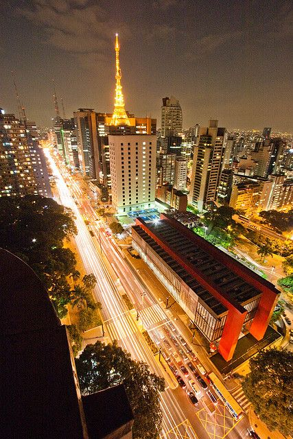 The striking architecture of São Paulo Art Museum (MASP) on Avenida Paulista by Jorge Takeshita
