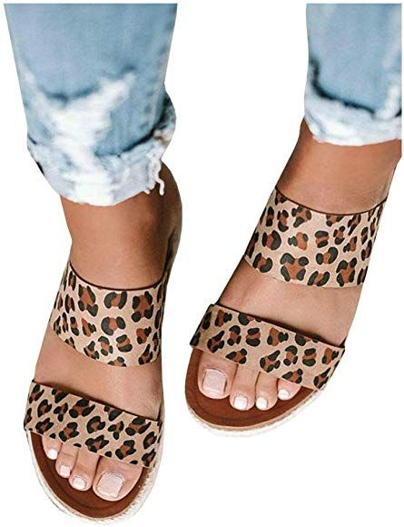 amazon leopard sandals