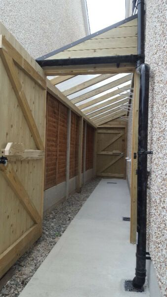 Lean To Shed Covered Side Passageway Side Return Cover Dublin Gumtree Classifieds Ireland 547893531 In 2020 Lean To Lean To Shed Garden Sheds For Sale