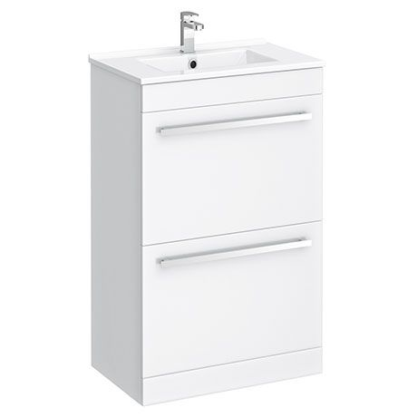 Nova 500mm Vanity Sink With Cabinet Modern High Gloss White Victorian Plumbing Uk Basin Unit Small Bathroom With Shower High Gloss White