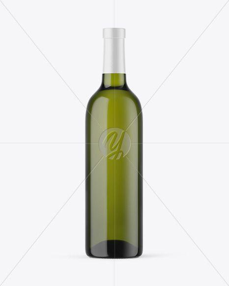 Green Glass White Wine Bottle Mockup In Bottle Mockups On Yellow Images Object Mockups Bottle Mockup Wine Bottle Green Glass Bottles