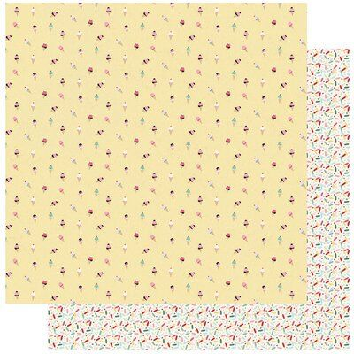 Authentique Paper Confection Collection 12 X 12 Double Sided Paper Three Authentique Paper Patterned Paper Confection