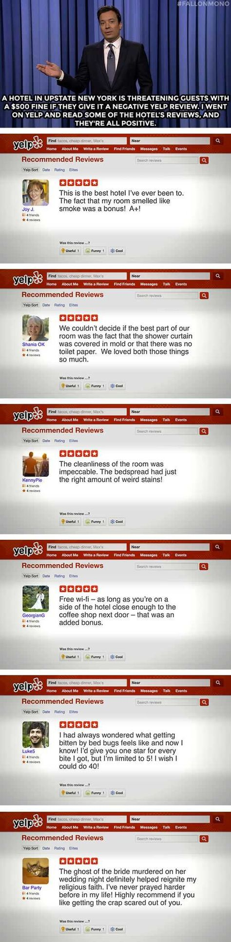 Hotel Threatens Against Bad Yelp Reviews With Images Laugh