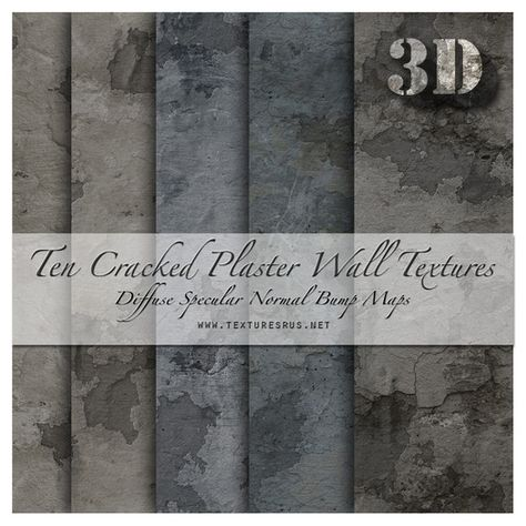 Textures R Us - Cracked Distressed Plaster Material Maps