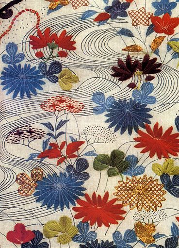 beautiful embroidered fabric