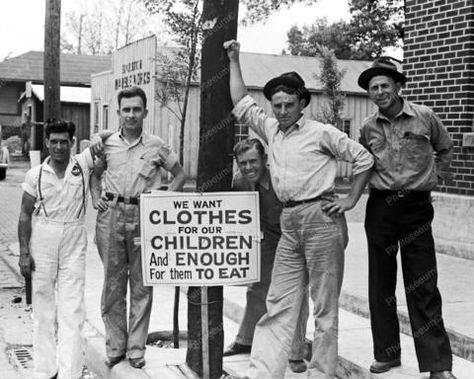 Coca-Cola Plant On Strike Sikeston MO 1940 Vintage 8x10 Reprint Of Old Photo