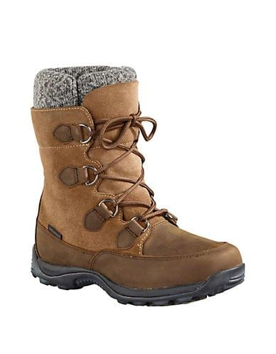 Baffin Women's Urban Aspen Leather Winter Boots Taupe