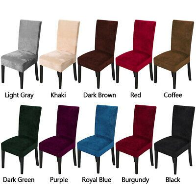 Advertisement 1 4 6 8pcs Velvet Stretch Dining Room Chair Cover Thicken Removable Slipcovers Rumah
