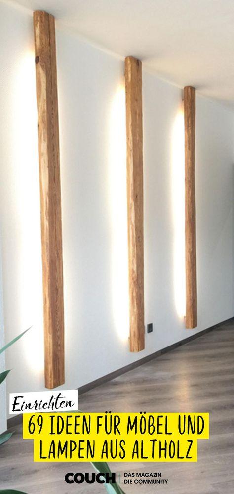 Aus Altholz lassen sich so schöne Dinge bauen! Egal ob Lampen, Möbel wie Esstische oder Regale: Altholz sorgt für einen ganz besonderen Charme! #altholz #diy #upcycling #COUCHstyle