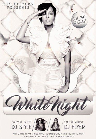 Christmas Party V12 2020 Flyer white night party psd flyer template in 2020 | Psd flyer templates
