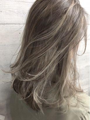 バレイヤージュ メッシュ ヘアスタイル ヘアスタイリング 髪色
