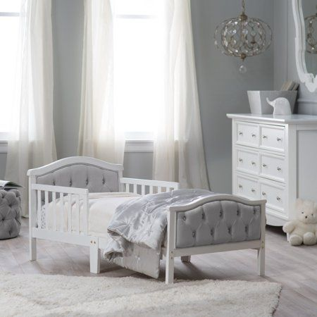 White Toddler Bed Walmart.Free Shipping Buy Orbelle Upholstered Toddler Bed Gray