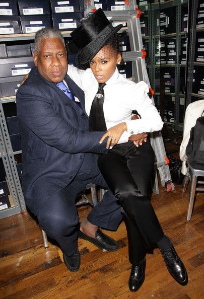 Janelle Monae Photos - Andre Leon Talley and Janelle Monae attend the Ralph Lauren celebration of Fashion's Night Out at Ralph Lauren Soho on September 2010 in New York City. - Ralph Lauren Soho Celebrates Fashion's Night Out