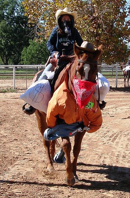 Bank Robbers - Old West style - Horse and person costume