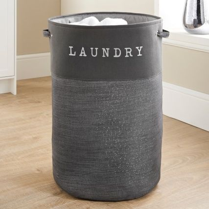 335843 Large Sparkle Hamper Dark Grey Grey Laundry Basket Laundry Hamper Cheap Laundry Baskets