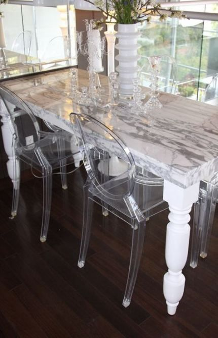 Trendy Kitchen Marble Table Top Ideas Dining Table Marble Ghost