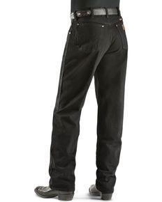 b9b6d4dd Wrangler Mens Retro® Slim Fit Straight Leg Jeans, Black | My Western ...