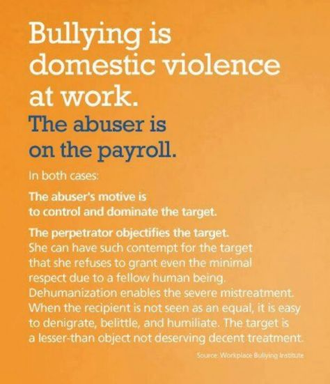 BULLYING IS DOMESTIC VIOLENCE IN THE WORKPLACE...  PLEASE READ ALL OF THIS... IT IS AN EXCELLENT SUMMARY OF WHAT BULLY BOSSES ARE AND WHAT HORRIBLE THINGS THEY DO TO THEIR TARGETS...