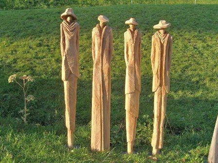 Die besten 25+ Holzfiguren Ideen auf Pinterest Osterhasen holz - deko garten selber machen holz